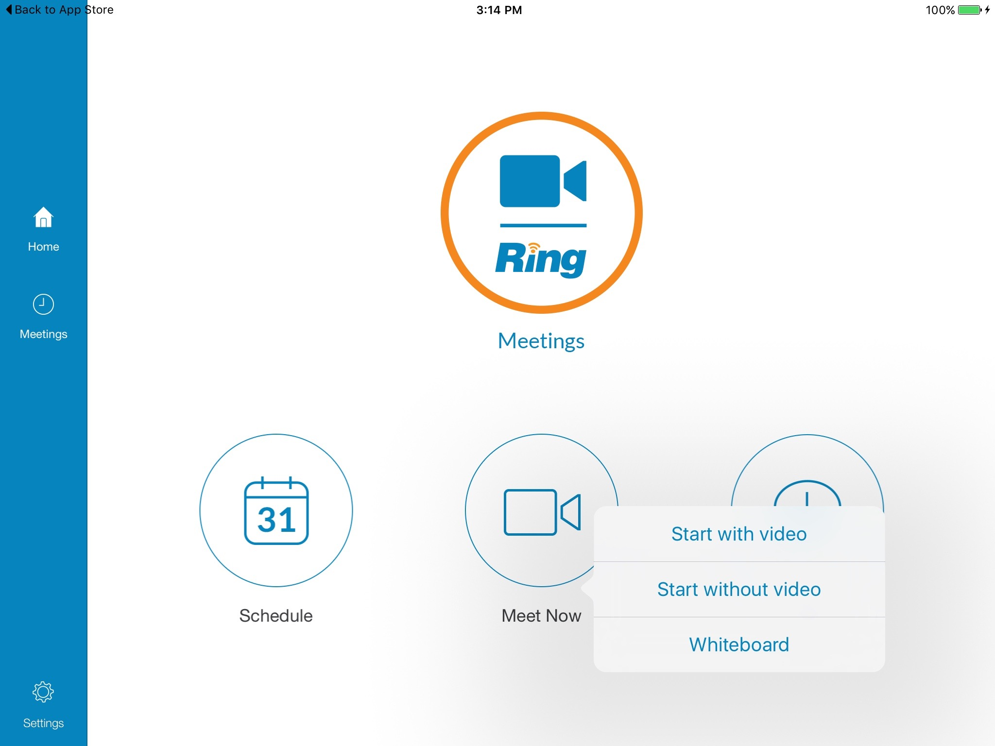 RingCentral Meetings App for PC, Mac, Android , and iOS
