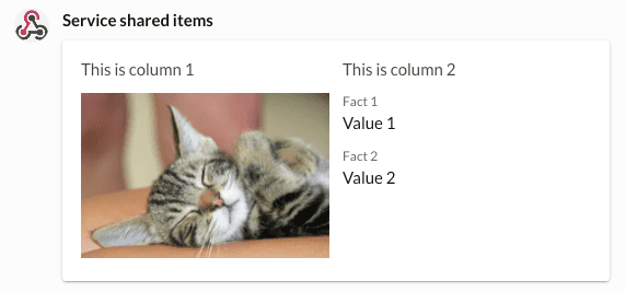 Basic columns screenshot