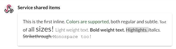 Basic rich text screenshot